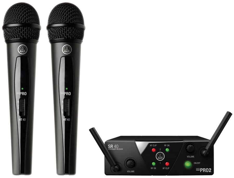 AKG WMS40 MINI Dual Handheld Wireless System