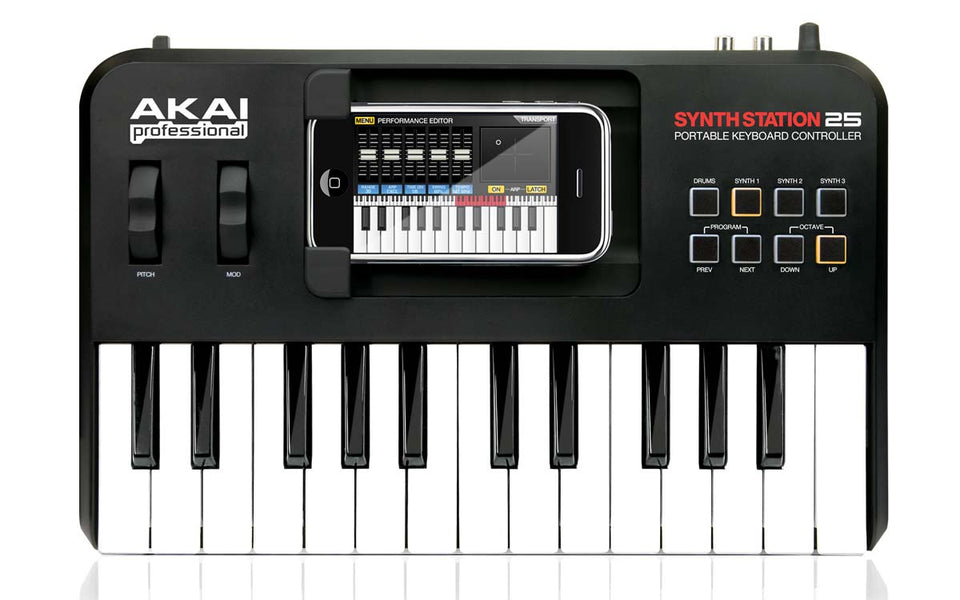 Akai SynthStation 25 Keyboard Controller for 30 Pin iPhone and iPod Touch