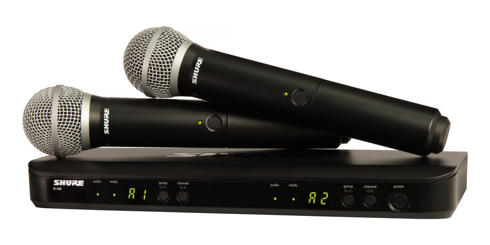 Shure BLX288/PG58 H9 Dual Handheld Wireless System