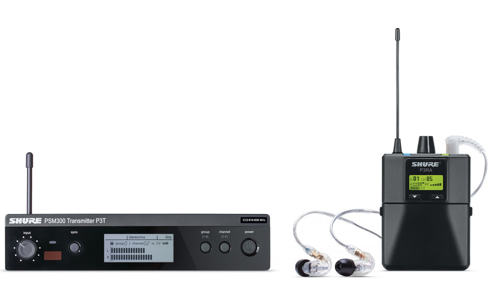 Shure P3TRA215CL-G20 Wireless Monitor System W/ Bodypack & Earphones - G20 Band