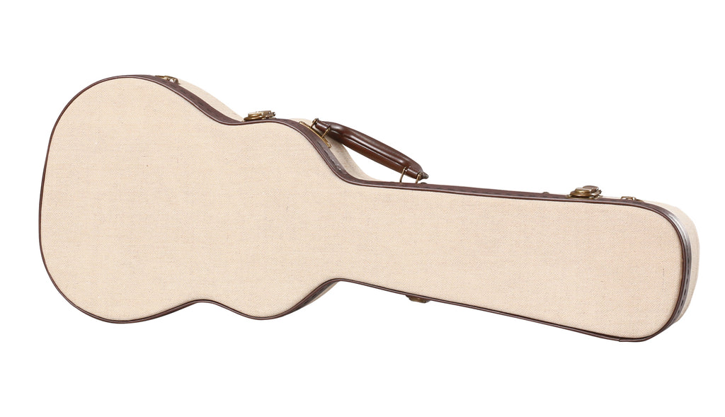 Gator Cases GW-JM UKE-TEN Deluxe Wood Case For Tenor Style Ukuleles - Journeyman Burlap Exterior