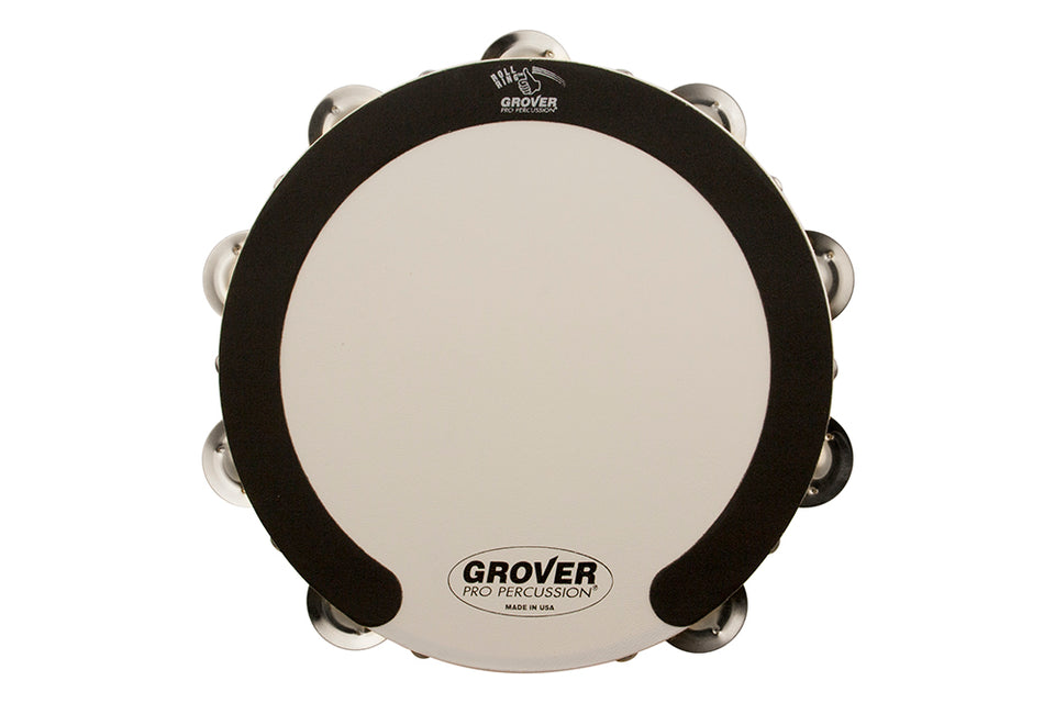 Grover SV-TAMB-GS 10-Inch Double-Row Tambourine - German Silver
