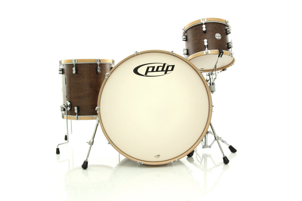 "PDP Concept Maple Classic 3-Piece Shell Pack Tobacco With Natural Hoops 26"" Kick"
