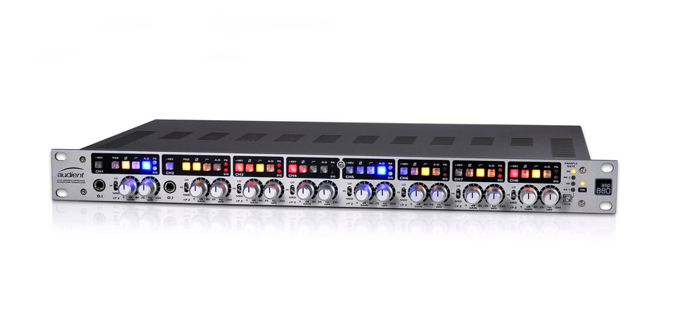 Audient ASP880 Class-A Microphone Preamplifier and ADC
