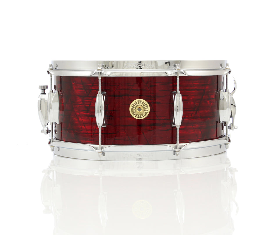 "Gretsch Broadkaster 14"" x 6.5"" Maple/Poplar Snare Drum - Ruby Red Pearl"