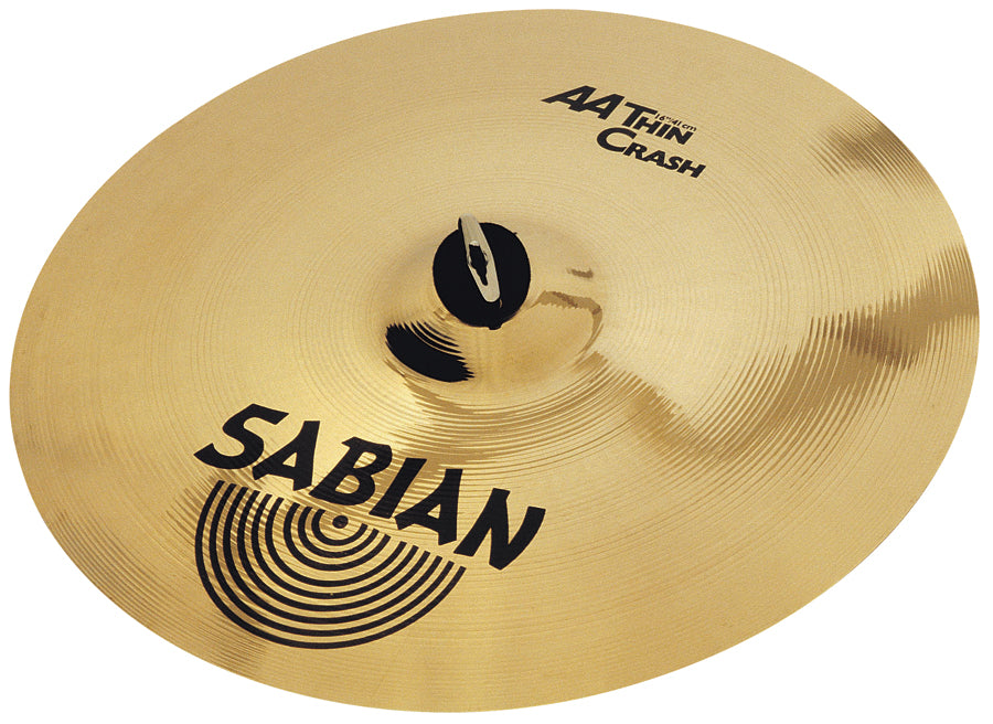 Sabian AA Thin Crash Cymbal Brilliant Finish