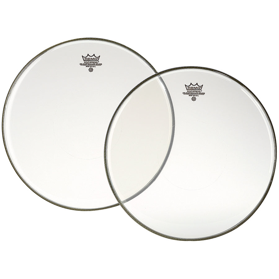 "Remo 14"" Clear Controlled Sound Drum Head With Clear Dot"