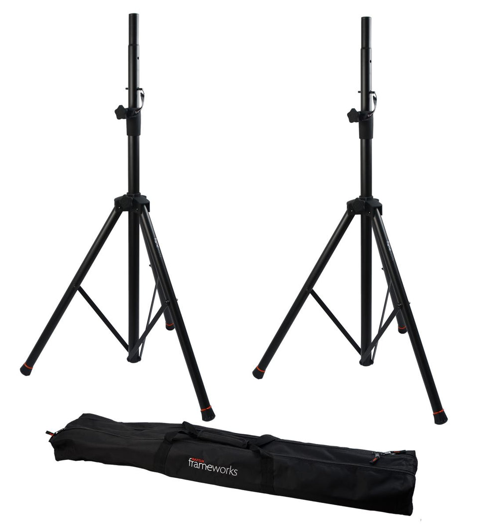 Gator Frameworks GFW-SPK-2000SET Speaker Stands (PAIR) With Carry Bag