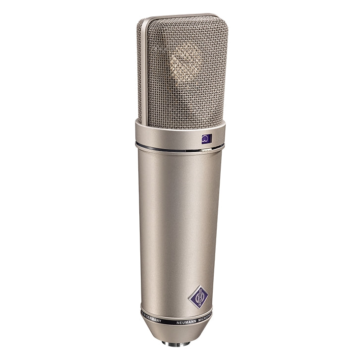 Neumann U 89 I Multi-Pattern Condenser Microphone W/ Wooden Box - Nickel