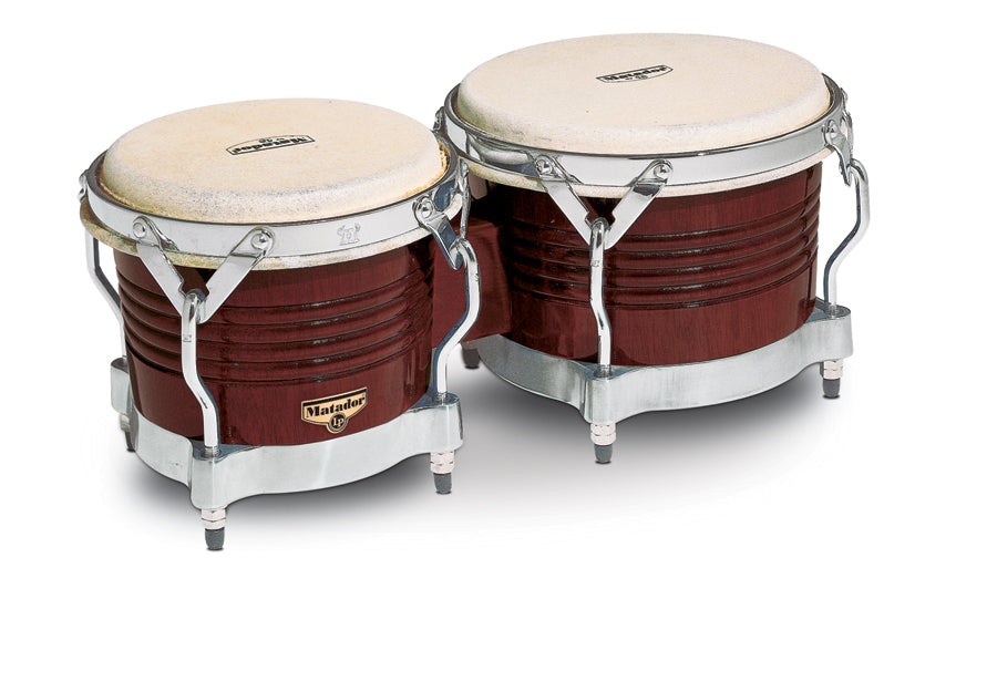 LP M201-ABW Matador Wood Bongos, Almond Brown/Chrome