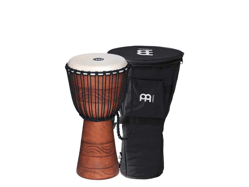 "Meinl ADJ2-M BAG Original African Style Rope Tuned Wood Djembe 10"" + Bag"