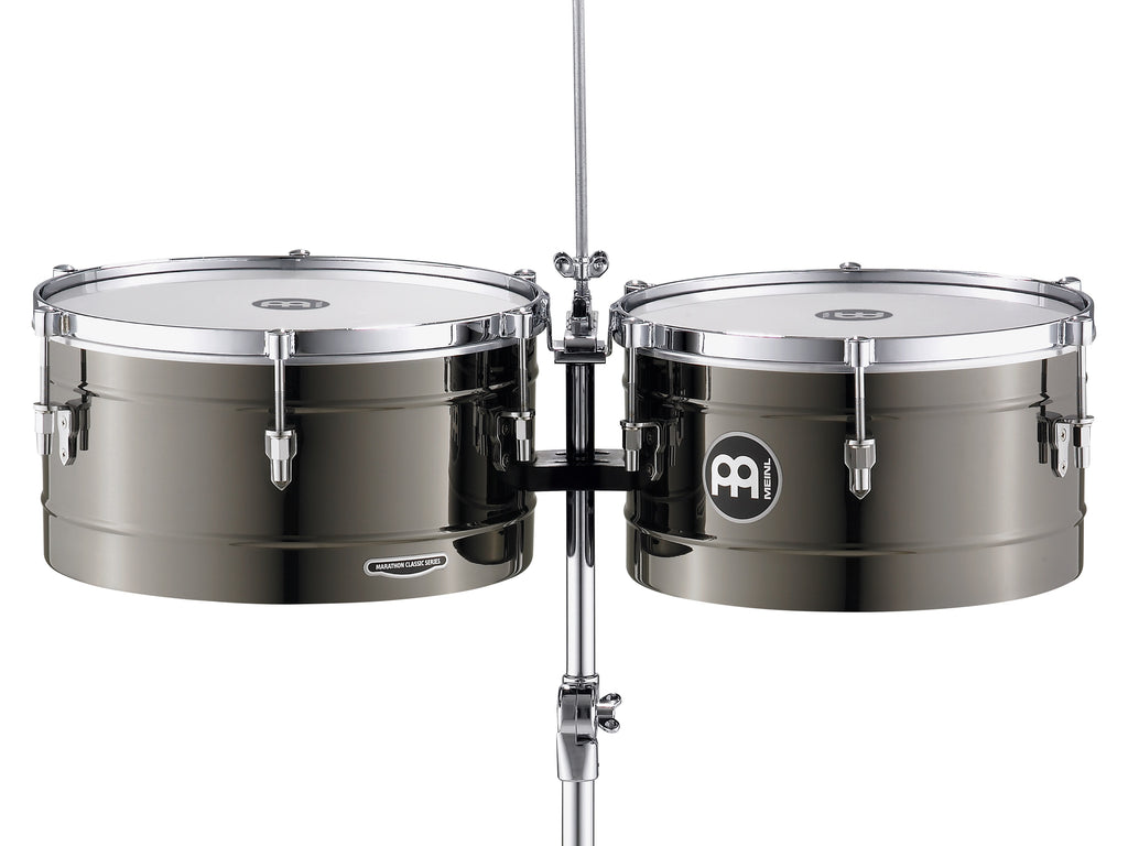 "Meinl MT1415BN Marathon Series Timbales 14"" & 15"" Black Nickel"