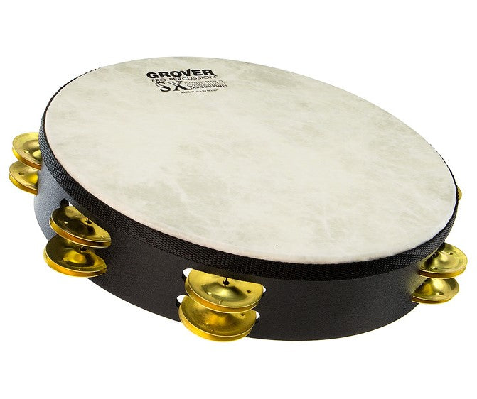 "Grover SX-BR SX 10"" Double Row Tambourine - Brass"