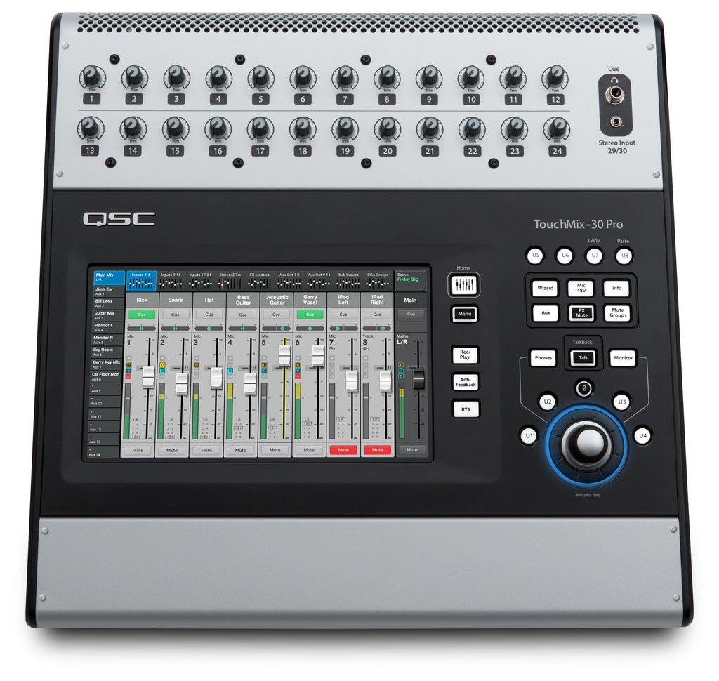 QSC Touchmix-30 Pro 32-Channel Compact Touchscreen Digital Mixer