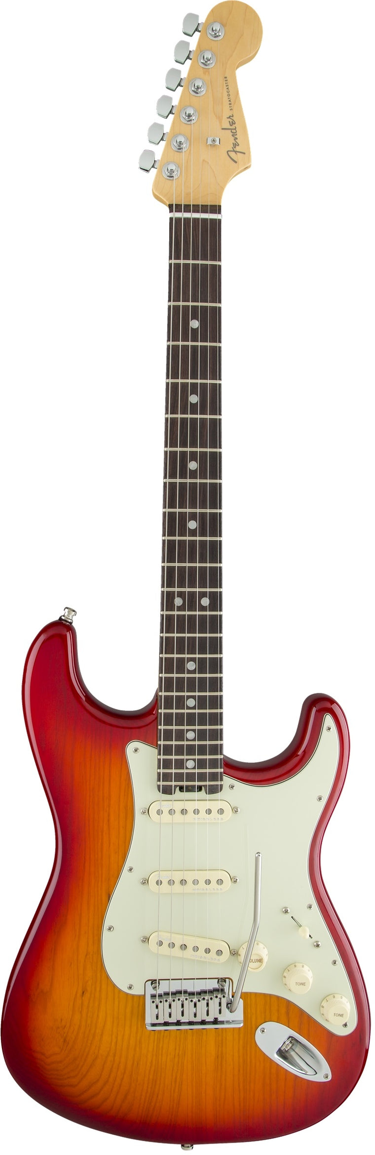 Fender American Elite Stratocaster, Rosewood Fingerboard, Aged Cherry Burst (Ash) Electric Guitar