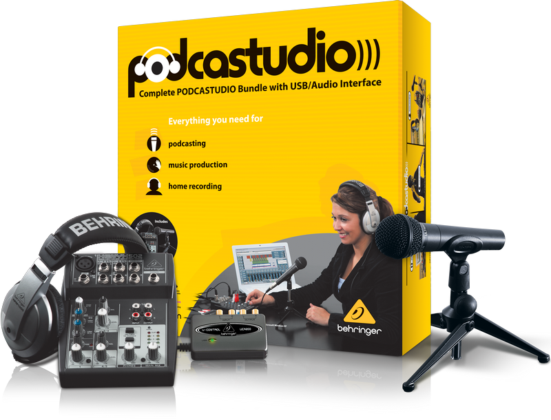 Behringer PODCASTUDIO USB Interface Bundle