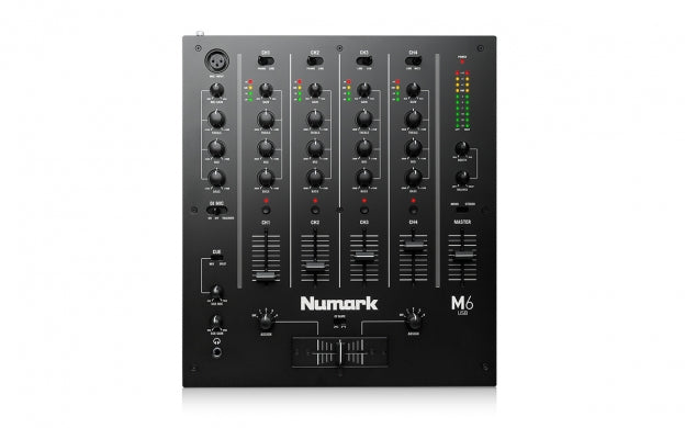 Numark M6USB 4 Channel DJ Mixer - Black