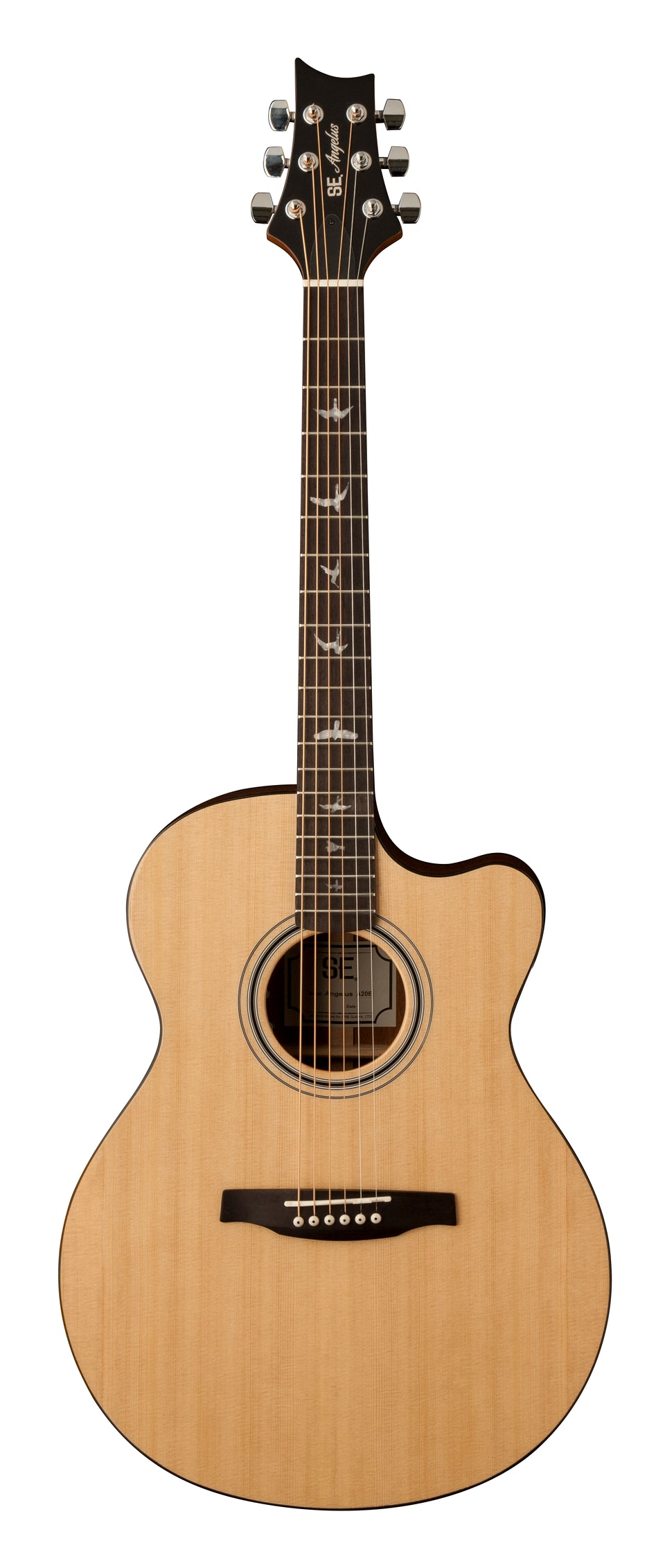 PRS SE A20E Angelus Cutaway Acoustic/Electric Guitar - Natural