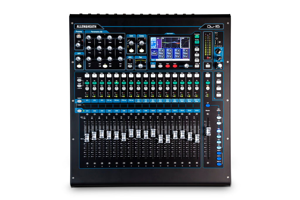 Allen & Heath QU-16C 16 Channel Digital Mixer - Chrome Edition