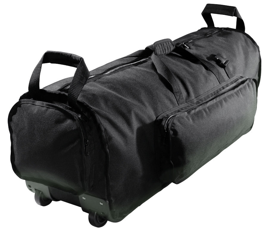 Kaces KPHD-46W Pro Drum Hardware Bag W/ Wheels, 46-Inches