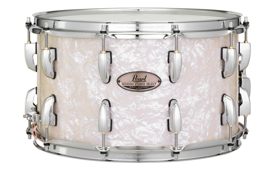 "Pearl 14"" x 8"" Session Studio Select Snare Drum - Nicotine White Marine Pearl"