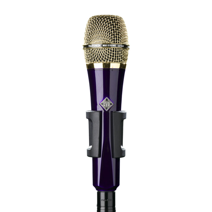 Telefunken Elektroakustik M80 Custom Dynamic Microphone - Purple With Gold
