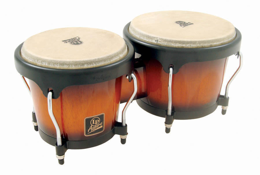 LP LPA601-VSB Aspire Wood Bongos - Vintage Sunburst/Black
