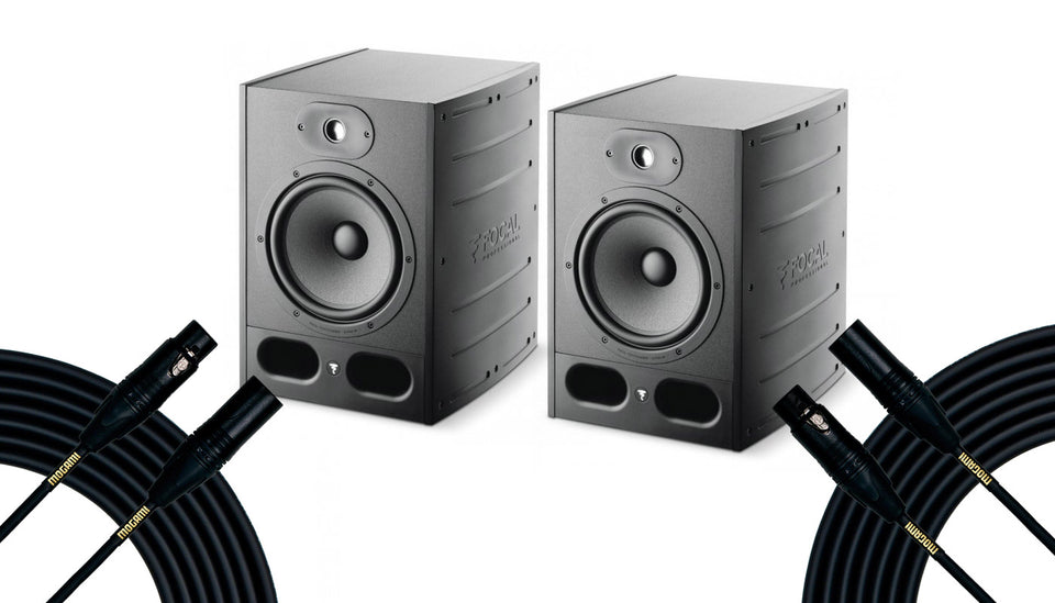 Focal ALPHA 80 Pair Bundle With Mogami Gold Studio 25' Cables