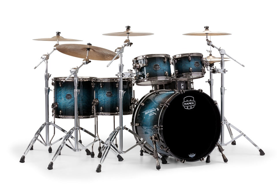 Mapex Saturn V MH Exotic Studioease 5 Piece Shell Pack - Deep Water Maple Burl