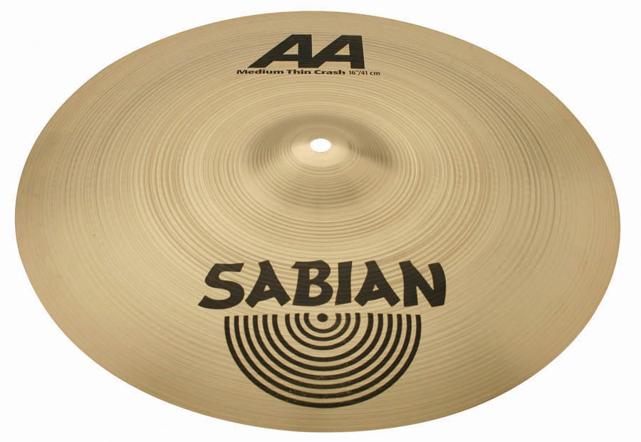 SABIAN AA Medium Thin Crash Cymbals - Natural Finish