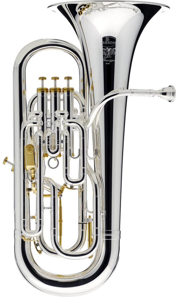Besson BE2052-2G-0 B-Flat Euphonium - Silver Plated Prestige Series