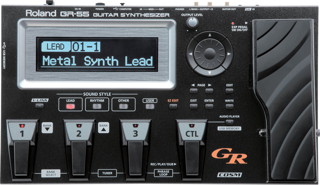 Roland GR-55 Guitar Synthesizer W/ GK-3 Divided Pickup