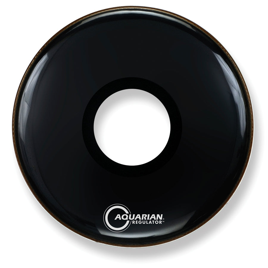 "Aquarian 22"" Black Regulator Bass Drum Head With 7"" Port"