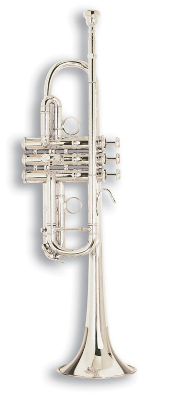 Bach C180SL229CC Stradivarius Chicago C Trumpet Outfit - Silver Plated