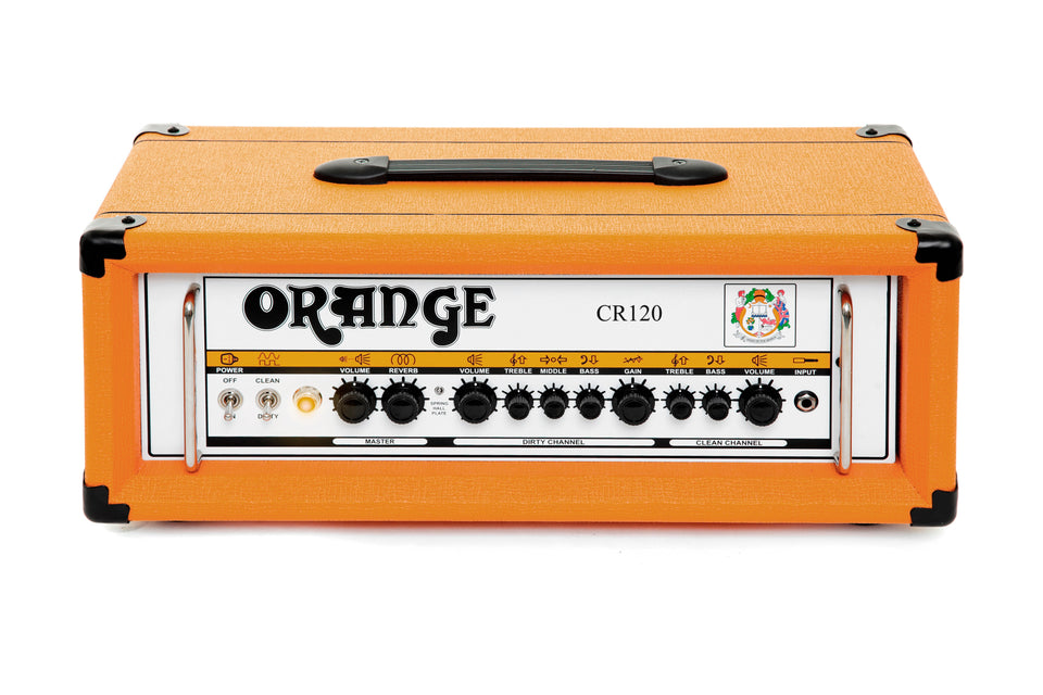 Orange Crush Pro CR120H 120 Guitar Amp Head W/ Rockerverb Voicing - Orange