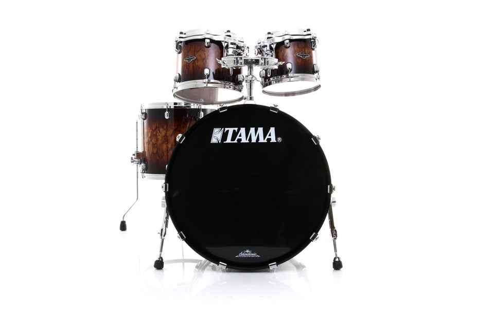 Tama Starclassic Performer 4 Piece Drum Set Shell Pack - Molten Brown Burst