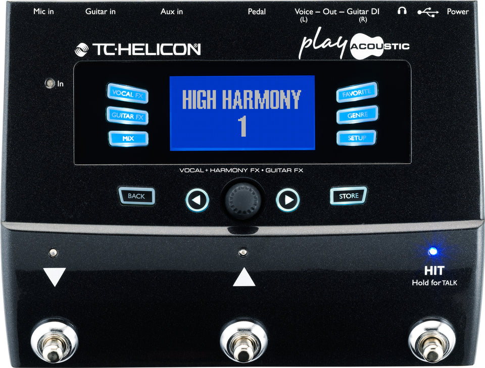 TC Helicon VoiceLive Play Acoustic Guitar And Vocal Effects Processor