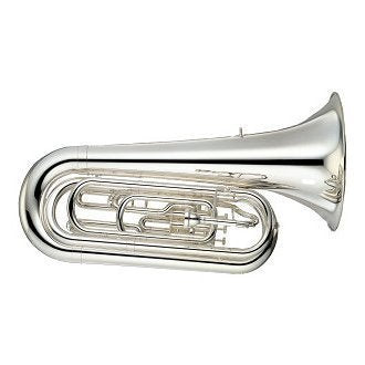 Yamaha YBB-201MSWC Marching Tuba, Silver Plated