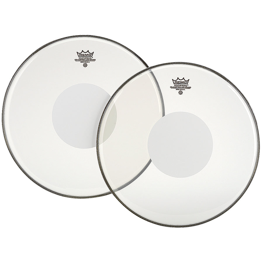 "Remo 12"" Clear Controlled Sound Drum Head With White Dot"
