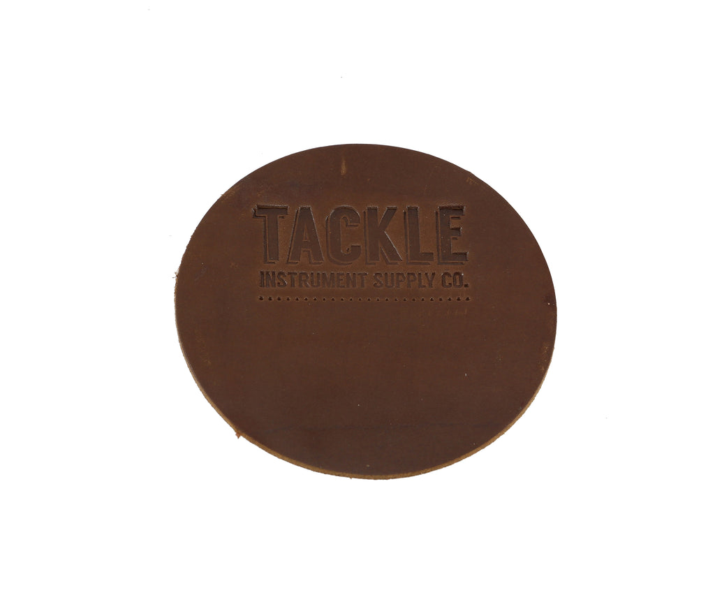 Tackle Leather Bass Drum Beater Patch