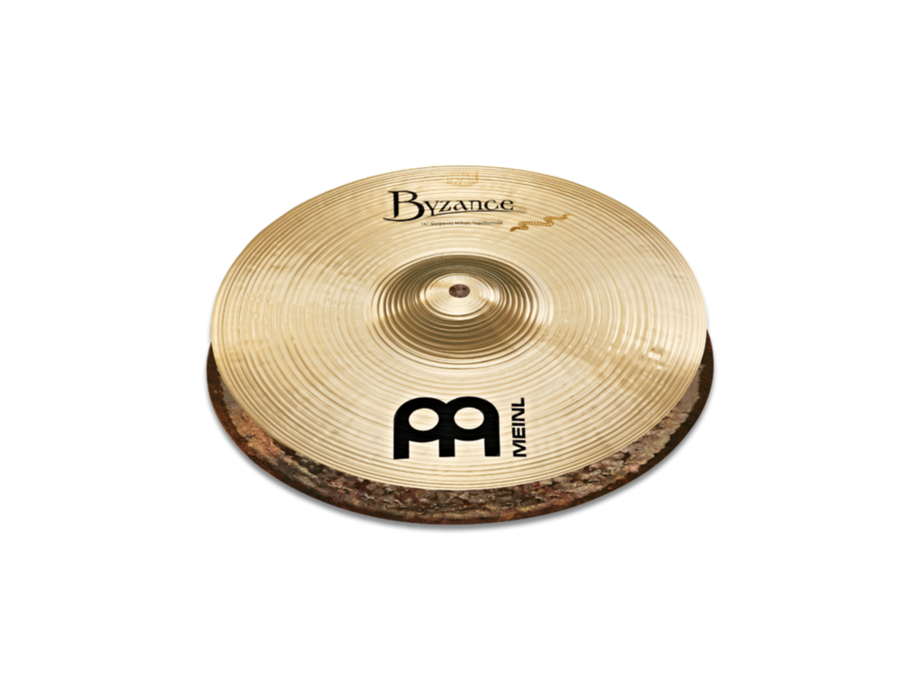 "Meinl 14"" Byzance Brilliant Serpents Hi-Hat Cymbals"