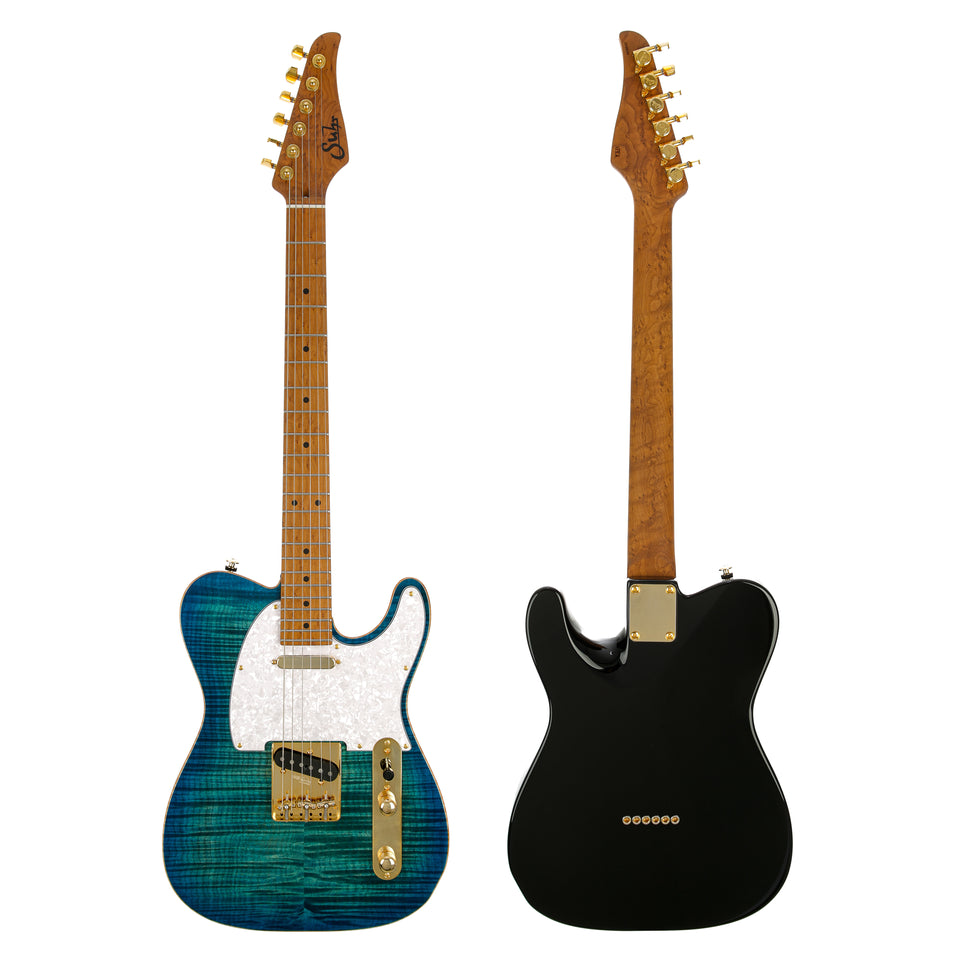 Suhr Classic T Deluxe Limited Edition Electric Guitar - Aqua Blue Burst
