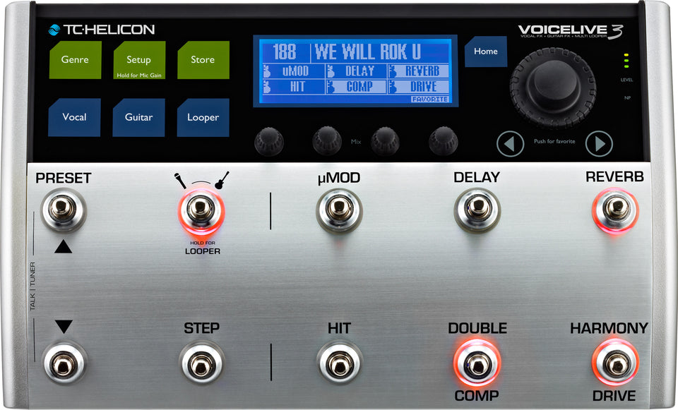 TC Helicon VoiceLive 3 Vocal-FX, Guitar-FX And Multi-Looper