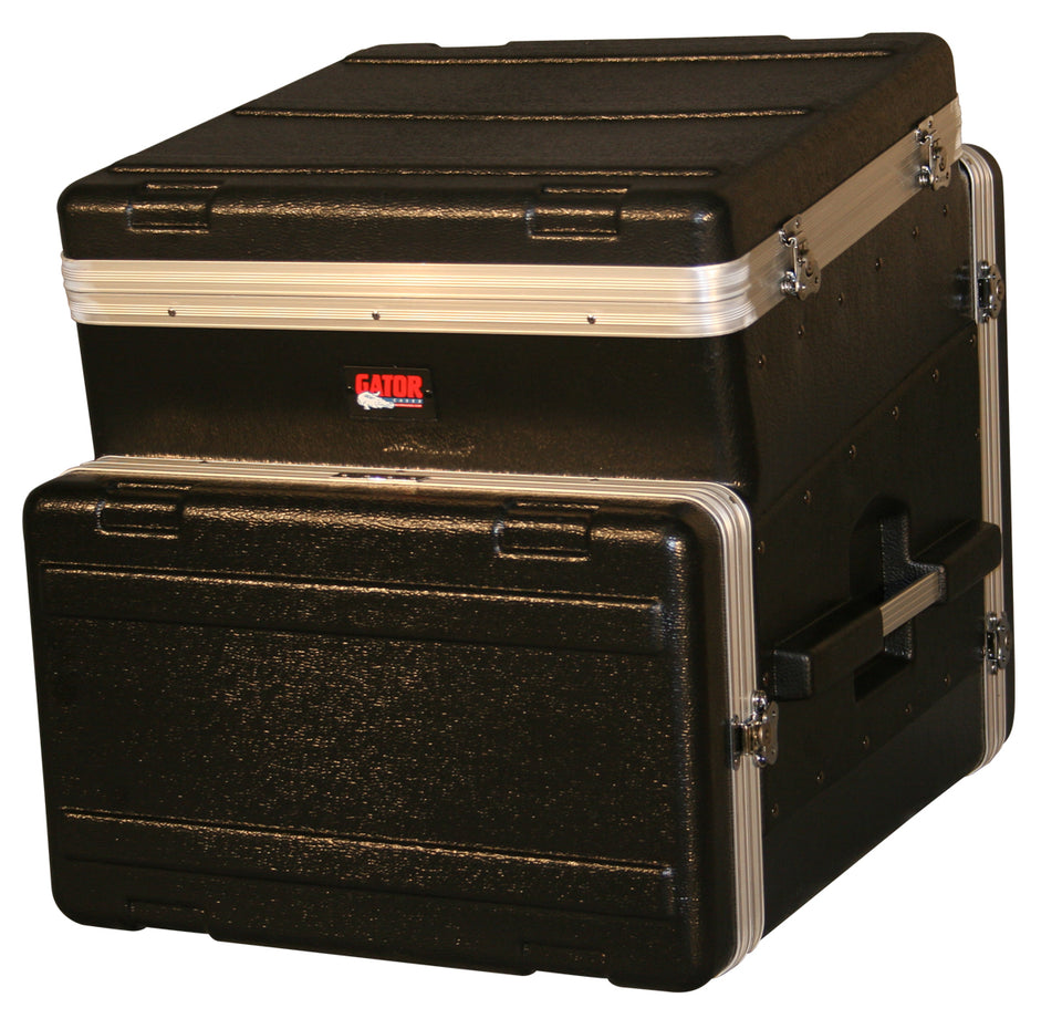 Gator Cases GRC-10X6 ATA Molded PE Slant Top Console Rack 10U Top x 6U Bottom