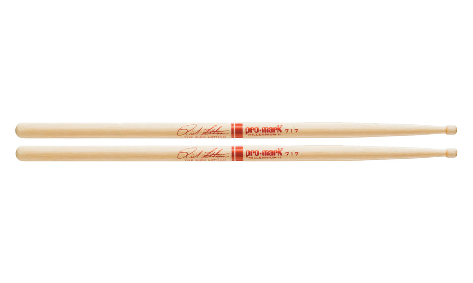 Promark TX717W Hickory 717 Rick Latham Wood Tip drumstick