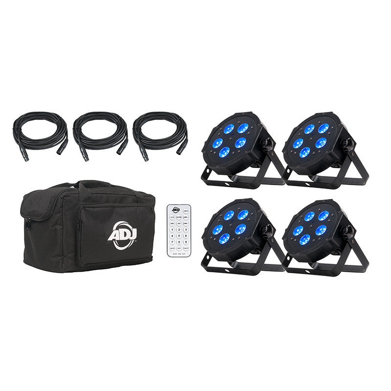 American DJ Mega Flat Hex Pak Up Lighting System