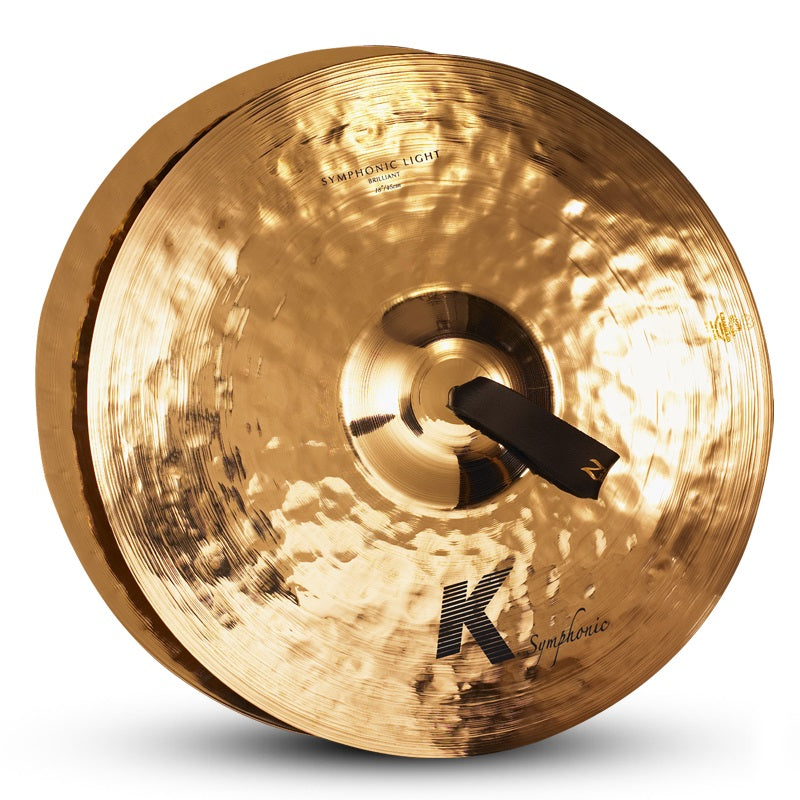 "Zildjian 18"" K Symphonic Light Brilliant Cymbals - Pair"