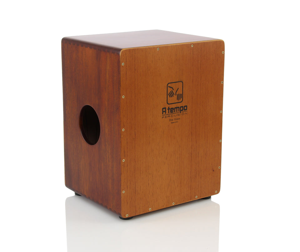 A Tempo Percussion Dos Voces Cajon W/ Bag