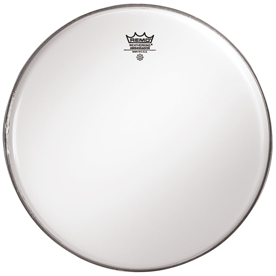 "Remo 18"" Smooth White Ambassador Bass Drum Head"