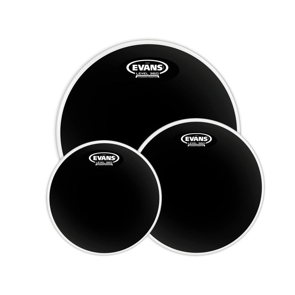 "Evans 10"", 12"", 16"" Black Chrome Tompack"